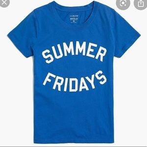 J. Crew Summer Friday's Blue Collectors Tee